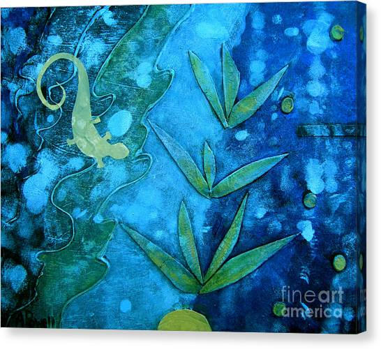 Chameleon  Canvas Print by Ann Powell