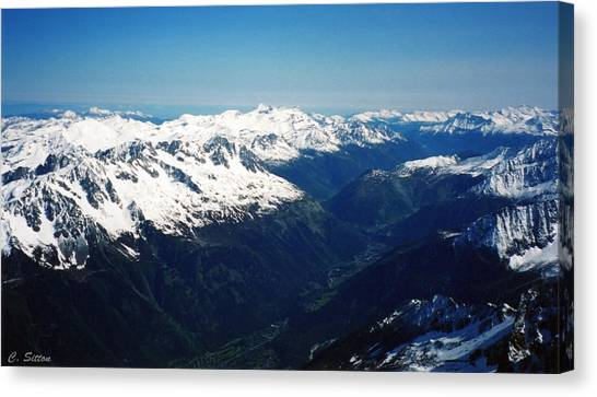 Chamonix Resort Overview Canvas Print