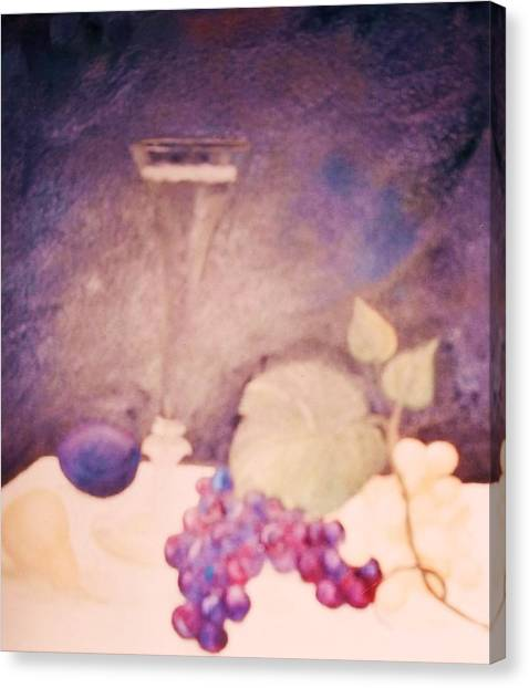 Champagne And Fruit Canvas Print by Alanna Hug-McAnnally