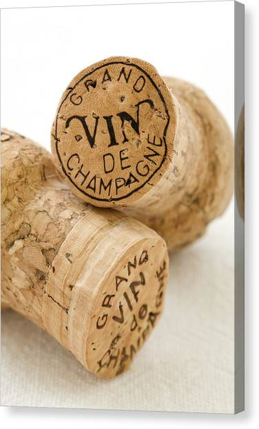 Champagne Canvas Print - Champagne Corks by Frank Tschakert