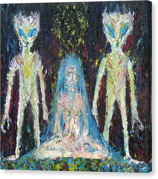 Monster Ufo Canvas Print - Chance She Has Chosen And Danger For Playfellows by Fabrizio Cassetta