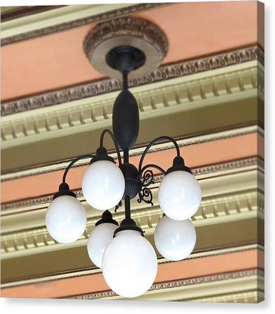 Shapes Canvas Print - #chandelier #light #bulb #ceiling by Jenna Luehrsen