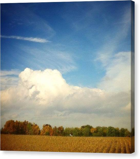 Big Sky Canvas Print - Changing Colours #autumn #cornfield by Marc Plouffe