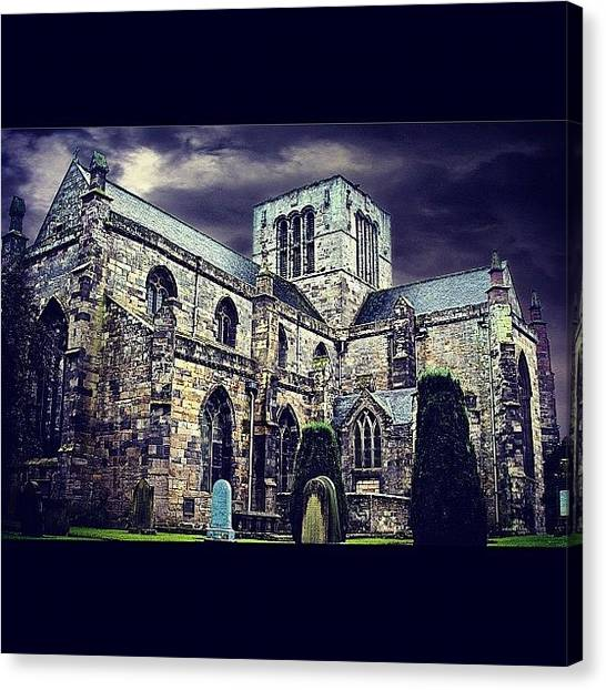 Saints Canvas Print - #chapel #burial #grave #dramatic by Toonster The Bold
