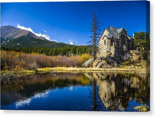 Chapel On The Rock Canvas Print