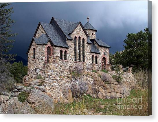 Chapel On The Rocks No. 1 Canvas Print