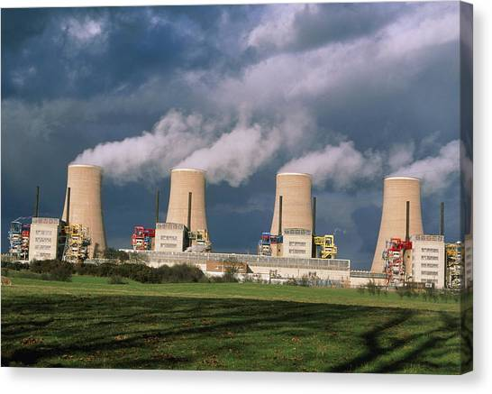 Nuclear Plants Canvas Print - Chapelcross Nuclear Power Station, Scotland by Colin Cuthbert