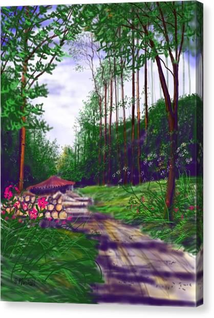 Charcoal Burners In Millington Wood Canvas Print
