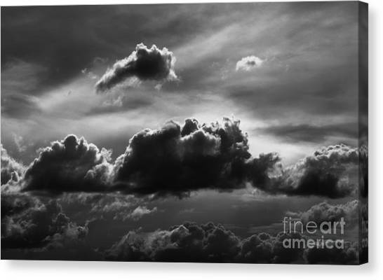 Charcoal Clouds Canvas Print