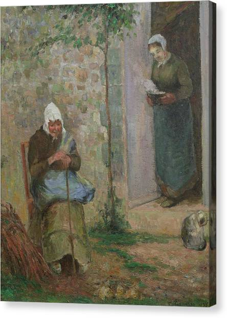 Charities Canvas Print - Charity by Camille Pissarro