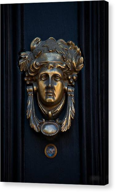 Charleston Brass Door Knocker Canvas Print by Melissa Wyatt