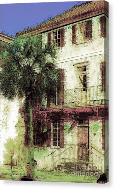 Charleston Homes Canvas Print