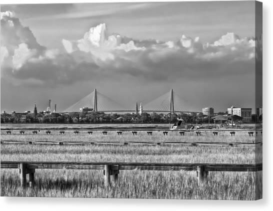 Charleston Skyline Canvas Print by Drew Castelhano