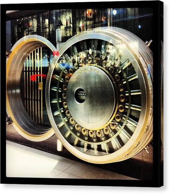 Vault Canvas Print - Chase Vault On 5th Avenue At 43rd by Arnab Mukherjee