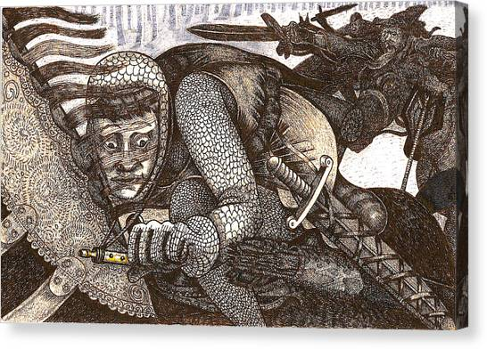 Chased By Brigands Canvas Print