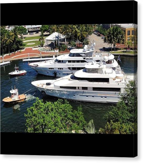 Yachts Canvas Print - Check Out The #towboats!! #tow #yacht by Lauderdale Ashley