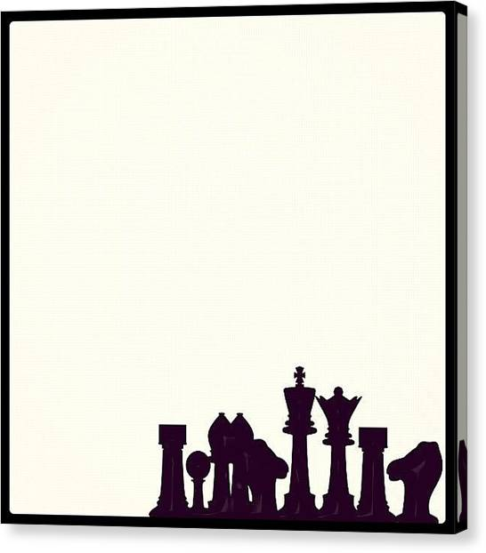 Tables Canvas Print - Checkmate by Amailto Sales