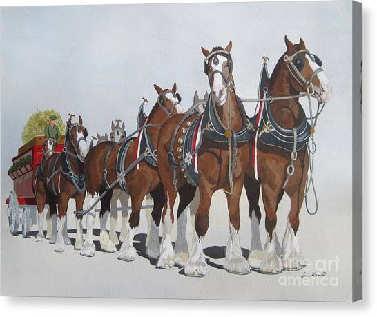Cheers Canvas Print by Jennifer  Donald