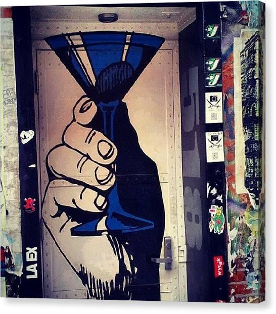 Martini Canvas Print - #cheers #salud #alcoholic #manhattan by Radiofreebronx Rox
