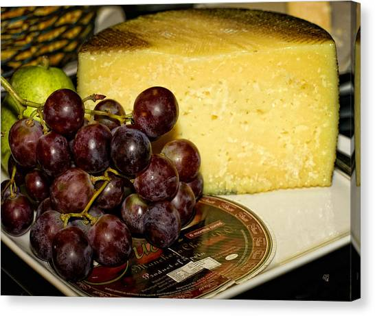 Cheese And Grapes Canvas Print