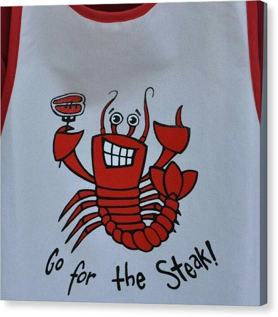 Lobster Canvas Print - Chef Apron #lobster  #apron #style by Daryl Macintyre
