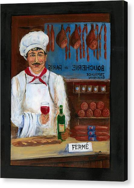 Ham Canvas Print - Chef At Days End by Marilyn Dunlap