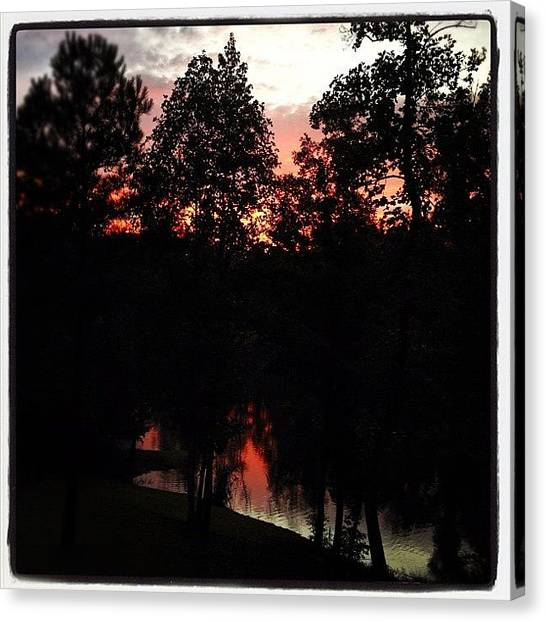 Lake Sunsets Canvas Print - Chelsea Sunset After The Storm. #sunset by Molly Slater Jones