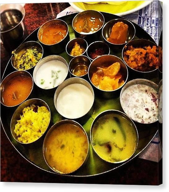 Meals Canvas Print - #chennai #lunch #thali #saravanabhavan by Sahil Gupta