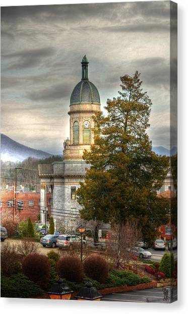 Cherokee County North Carolina Courthouse Canvas Print