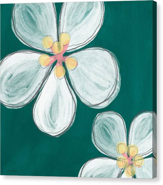 Cherries Canvas Print - Cherry Blossoms by Linda Woods