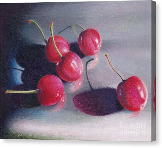 Cherry Talk Canvas Print by Elizabeth Dobbs