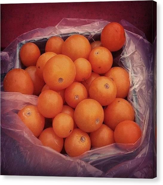 Farmers Canvas Print - #cherry #tomato #sweet #seeska by Alex Mamutin