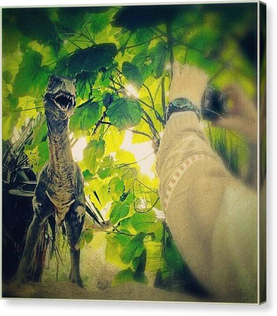 Dinosaurs Canvas Print - chester zoo Encounters by Alexandra Cook