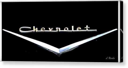Chevrolet Logo Canvas Print by Leslie Revels