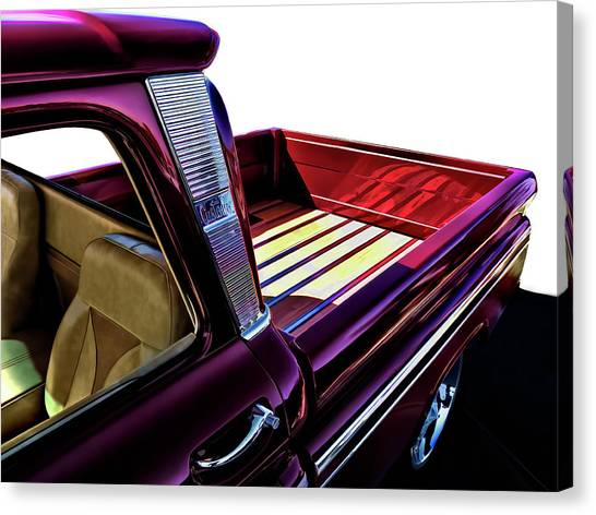 Chevy Truck Canvas Print - Chevy Custom Truckbed by Douglas Pittman