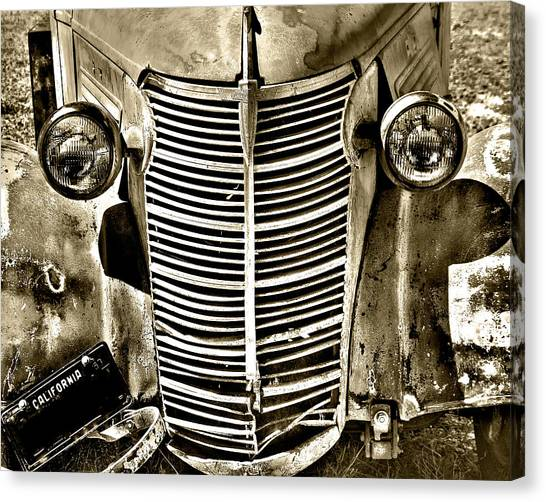 Chevy Grill Work Canvas Print