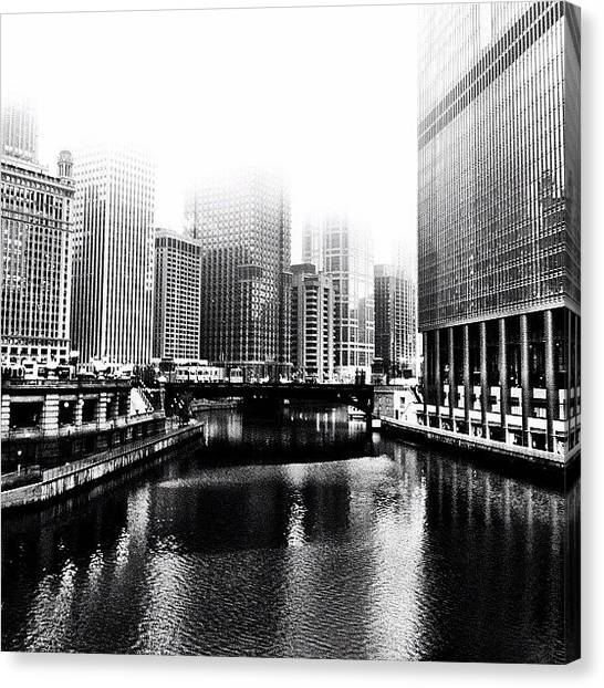 University Of Illinois Canvas Print - Chicago by Cassie OToole