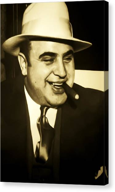 Scarface Canvas Print - Chicago Gangster Al Capone by Bill Cannon