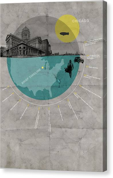 Chicago Poster Canvas Print by Naxart Studio