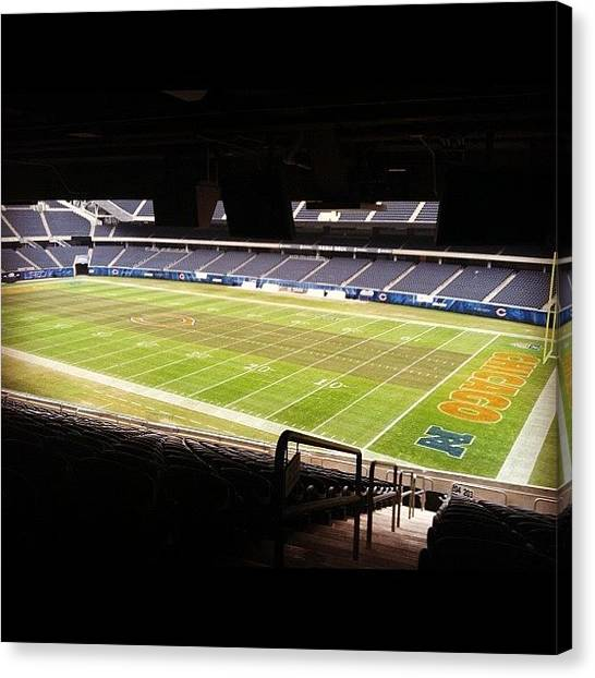 Football Teams Canvas Print - Chicago's Soldier Field...volunteering by Jackie Ayala