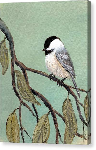 Chickadee Set 10 - Bird 2 Canvas Print