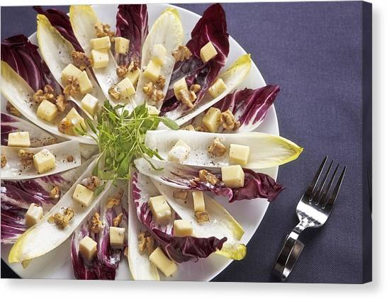 Lettuce Canvas Print - Chicory Salad by Joana Kruse