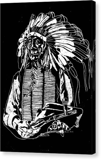 Chief Red Cloud 2 Canvas Print by Jim Ross