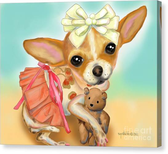 Chihuahua Princess Canvas Print