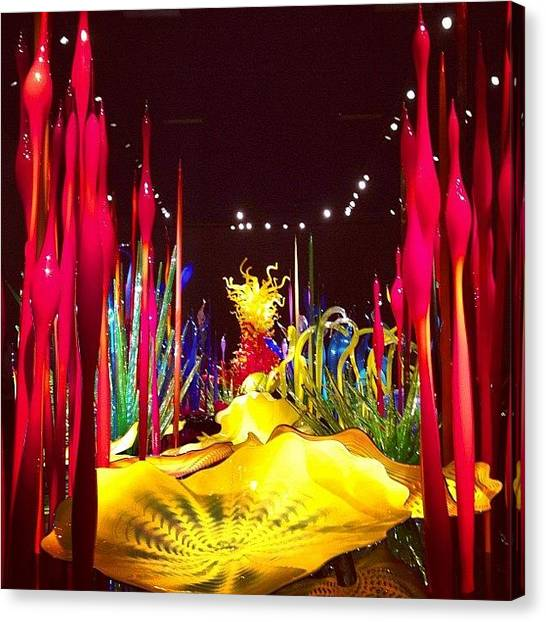 Reef Sharks Canvas Print - Chihuly Reef by Jessica Wagner