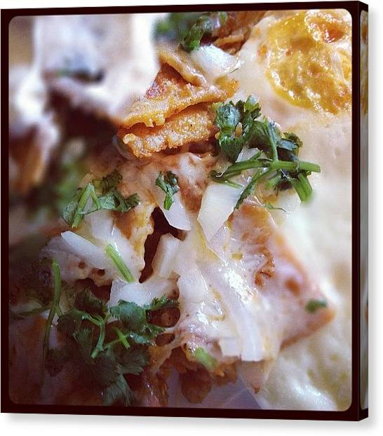 Onions Canvas Print - Chilaquiles by Raul Roa