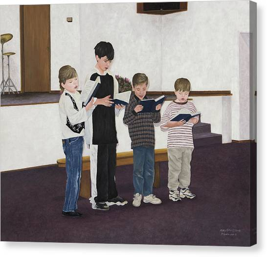 Children Sing Praise Canvas Print