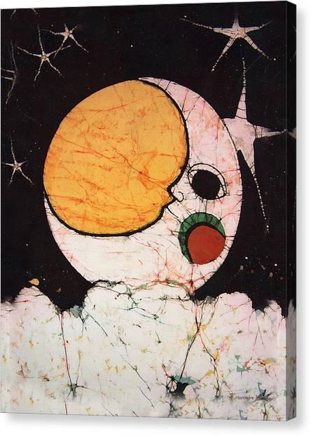 Children's Moon Canvas Print by Alexandra  Sanders