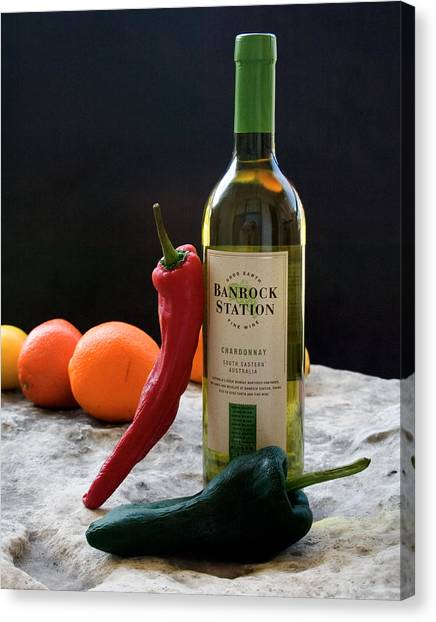 Chilis Wine And Citrus Canvas Print