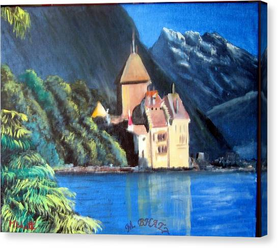Chillon Castle Canvas Print by M Bhatt